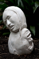 Mourning has broken...my heart (cast stone)