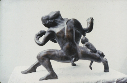 One family of man - alternative view (bronze)