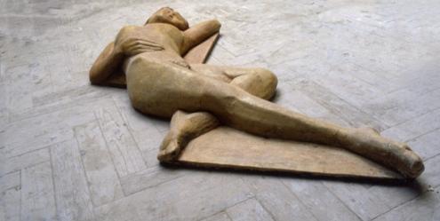 Resting figure - detail 1 (cast stone)
