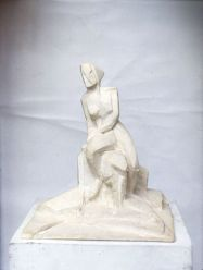 Seated figure (plaster)