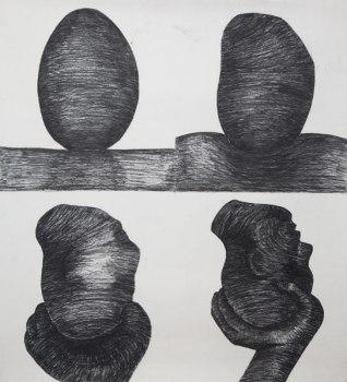 Metamorphosis (charcoal on paper 74 x 82cm)