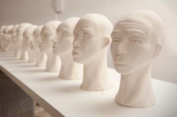 Head series (plaster)