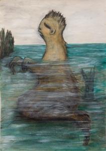 Sea creature 3 (acrylic 37 x 54cm)