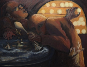 The Alchemists (oil on canvas)