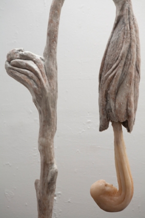 Evolving form - detail 4 (concrete & wax)