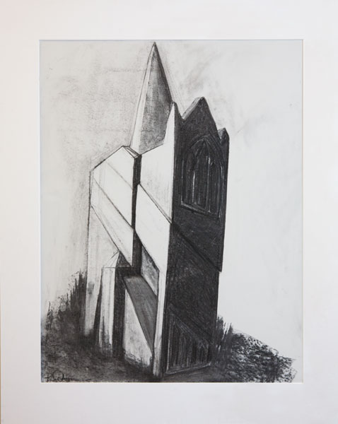 Architectural study 3 (charcoal on paper)