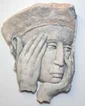 Head - fragment (plaster 27 x 36 x 6 cm)