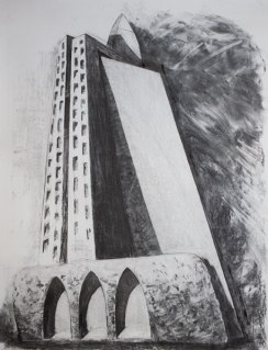 Architectural study 2 (charcoal on paper)