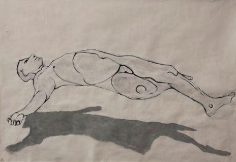 Floating figure (acrylic 42 x 59cm)