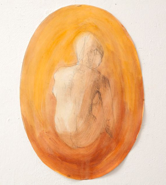 Figure (acrylic wash 41 x 29cm)