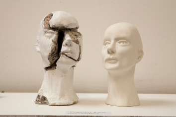 Detail of Head series (concrete & plaster)