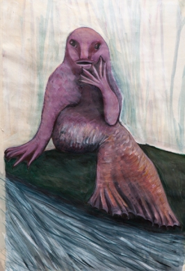 Sea creature 1 (acrylic 36 x 54cm)