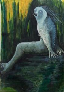 Sea creature 2 (acrylic 36 x 54cm)