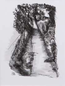 Pathway 1 (ink on paper)