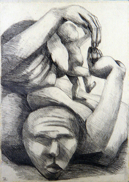 Creation 3 (pencil on paper 42 x 60cm)