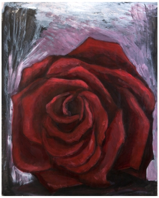 Rose (acrylic 86 x 67cm)
