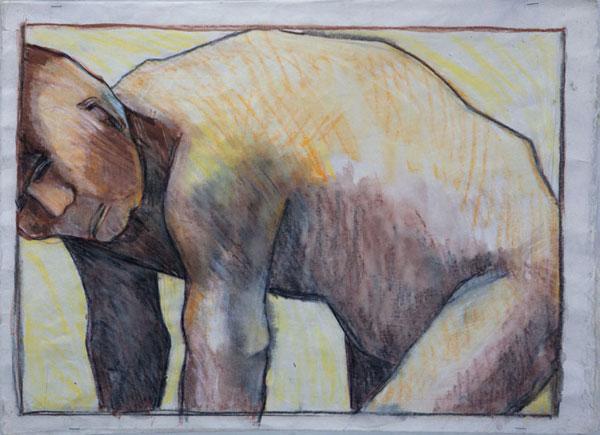 Fallen man 2 (watercolour)