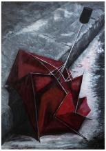 Umbrella (acrylic 84 x 59cm)